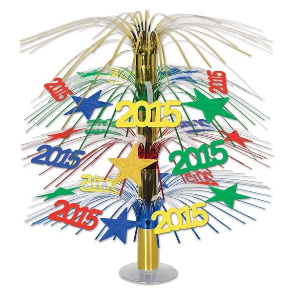 Use The 2015 Cascade Centerpiece Around Your New Years Party For Some Colorful Table Decor