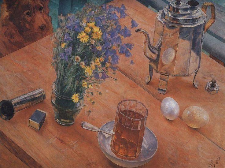 Kuzma Petrov-Vodkin (1878-1939), Morning still life, 1918.