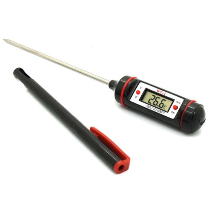 MOSEKO Baru Portabel Digital Makanan Probe Thermometer Daging Oven Pena Dapur BBQ Alat Makan Suhu Rumah Tangga Thermometer WT-1