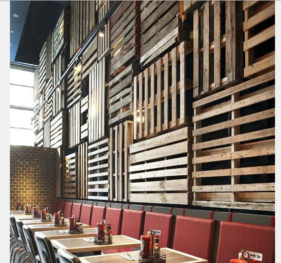 Wall Cladding With Palettes Amp Crates P 15 Reception