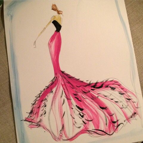 The 647 best Fashion Design Sketches - III images on Pinterest ...
