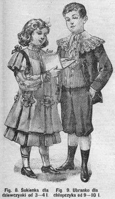Stroje dla dzieci, 1904   Clothes for children, 1904