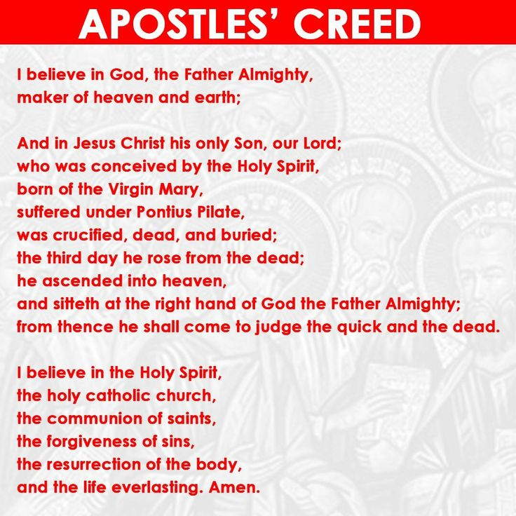 Apostles' Creed | First United Methodist Church ...