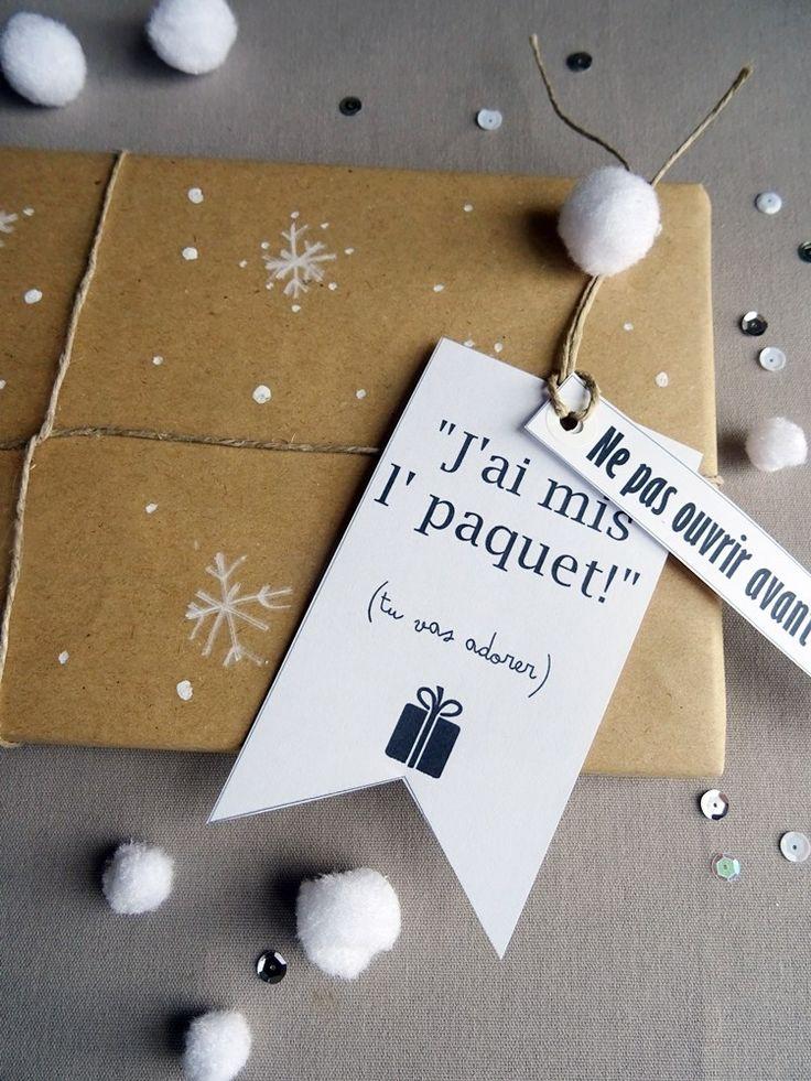 Étiquettes de Noël pour paquets cadeaux