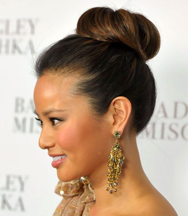 Google Image Result for http://www.weddingelation.com/wp-content/uploads/2012/08/Jamie-Chung-Classic-High-Bun-Updos-Hairstyle1.jpg