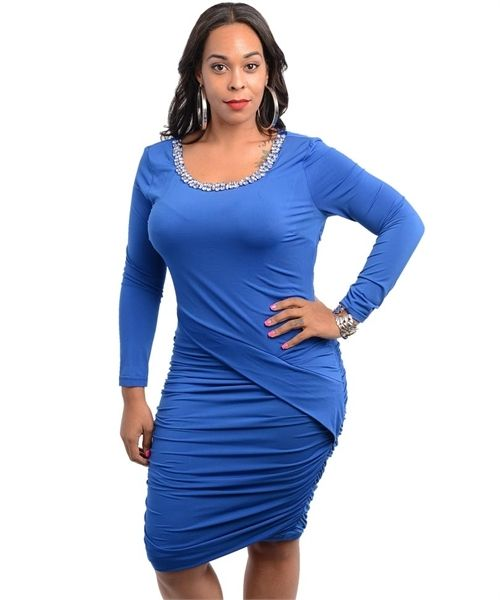 JChristianFashionBoutique - Royal blue plus-size dress, $35.00 (http://www.jchristianfashion.com/royal-blue-plus-size-dress/)