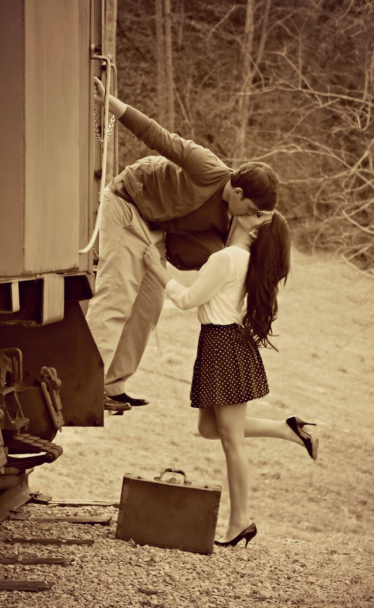 This would be a great engagement session and we could use a caboose in the next town!