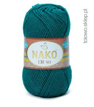 miękka włóczka z akrylu premium, Nako Elit 50