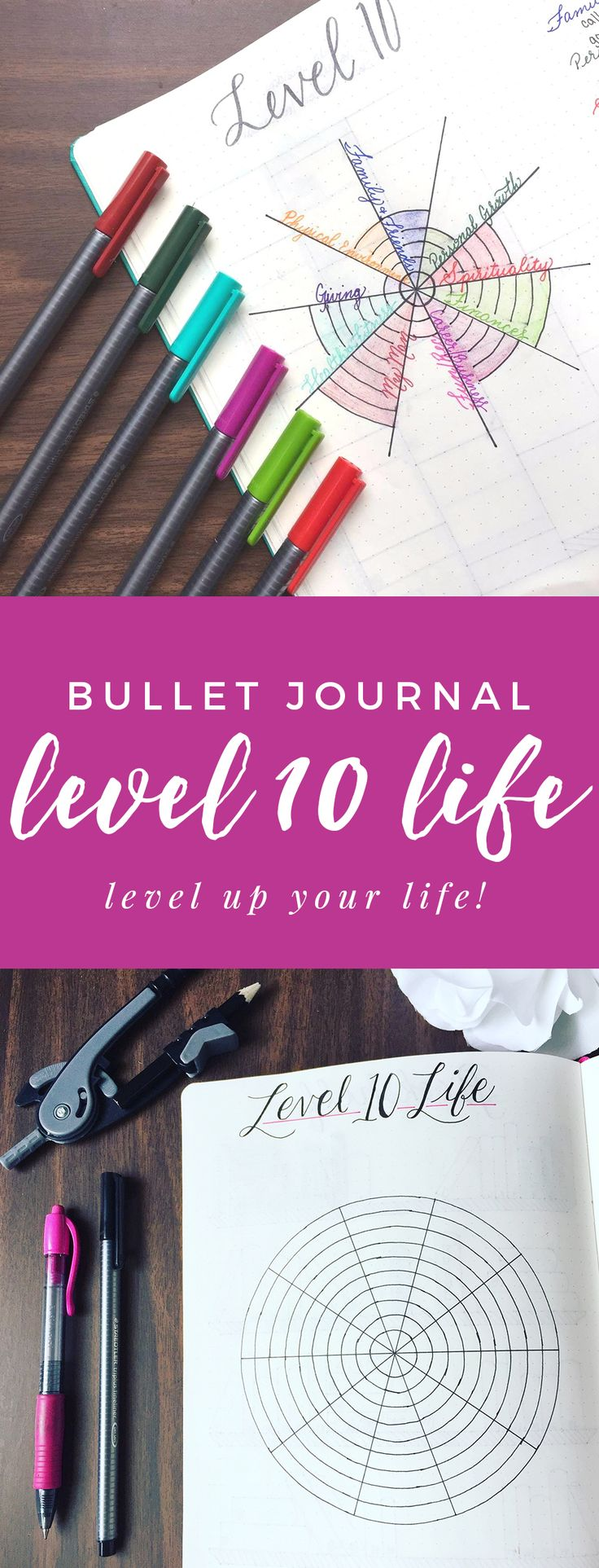 Create a Bullet Journal Level 10 Life Spread http://productiveandpretty.com/bullet-journal-level-10-life/?utm_campaign=coschedule&utm_source=pinterest&utm_medium=Jen%20%2B%20Liz%20%7C%20Productive%20and%20Pretty&utm_content=Create%20a%20Bullet%20Journal%20Level%2010%20Life%20Spread