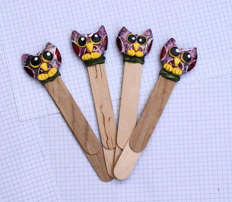 Segnalibri doppi con decoro in cartapesta