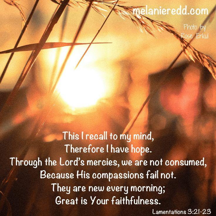 how to have more picture 1. #hope #faithfulness #Godisfaithful #neweverymorning