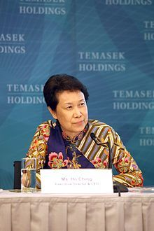 Numero cinquantanove: Ho Ching (Chinese: 何晶; pinyin: Hé Jīng; Wade–Giles: Ho2 Ching1; Cantonese Yale: Hō Chìng) (born 1953) is the Chief Executive Officer of Temasek Holdings (since 2002). Ho joined Temasek Holdings in May 2002 as Executive Director and was appointed Chief Executive Officer on 1 January 2004. Ho first joined Temasek as Director in January 2002 and then became its Executive Director in May 2002. Fonti: Wikipedia.