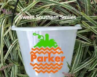 Personalized tin flower pot by sweetsouthernsmiles on Etsy