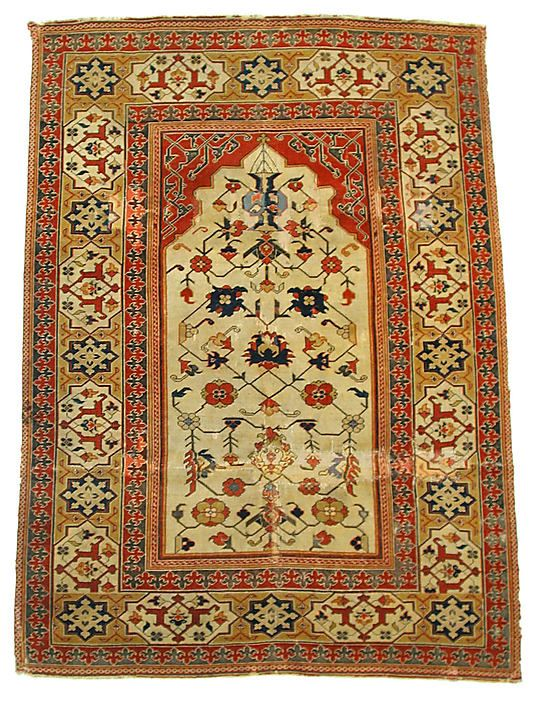 Transylvanian carpet  Object Name:     Carpet Date:     probably 17th century Geography:     Turkey Medium:     Wool (warp, weft and pile); symmetrically and asymmetrically knotted pile Dimensions:     H: 64 in. (162.56 cm) W: 48 in. (121.92 cm) Classification:     Textiles-Rugs