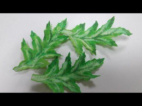 МК. Листья для цвитов мака с зефирного фоамирана! - YouTube