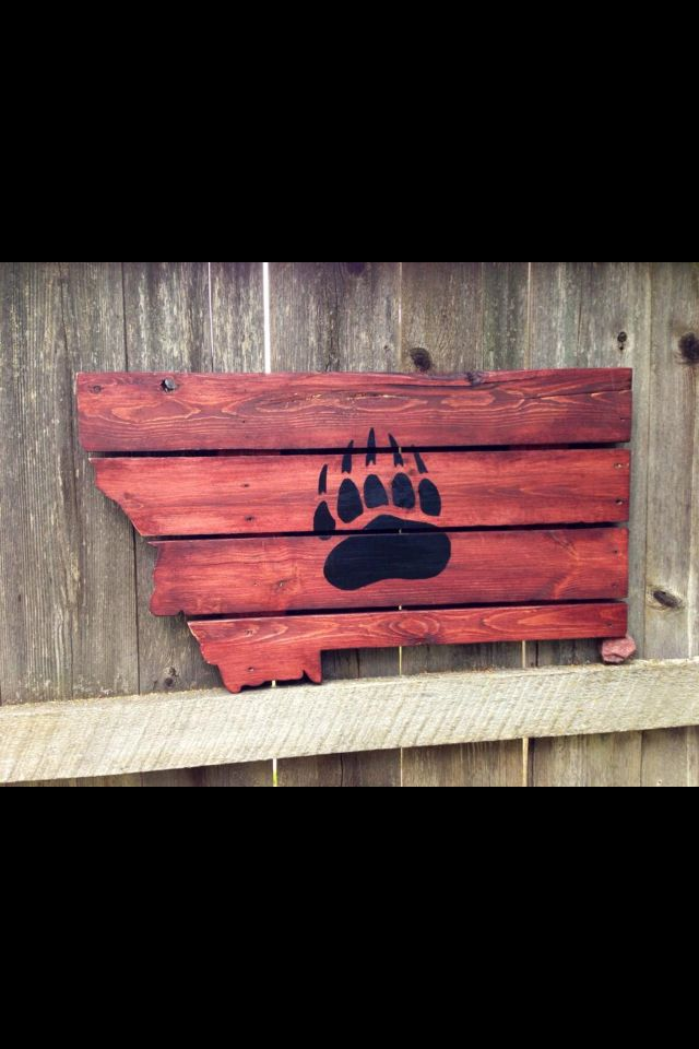 University of Montana Upcycled Pallet