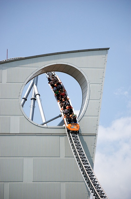 A Rollercoaster Outside the Tokoyo Dome - this looks like a blast to ride!