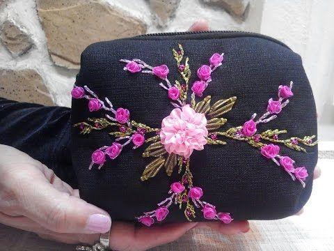 Bordado en cinta para principiantes 1/7 - Basic embroidery stitches ribbons - YouTube