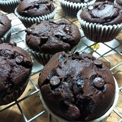 "Moist Chocolate Muffins | ""One word: scrumptious! Very moist, tasty and full of chocolate goodness! Even better the next day."""