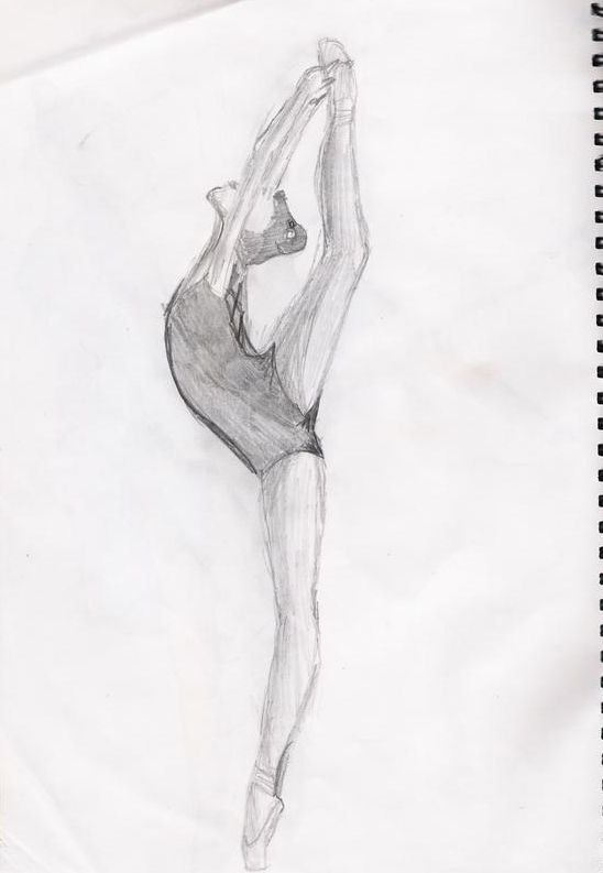 drawing of dancer | Dancers Drawings Ballet by Courtney-Dee on deviantART