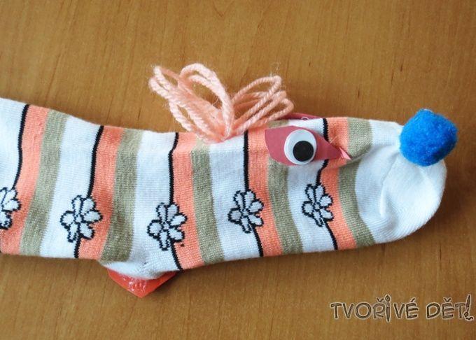 pejsek z ponožky