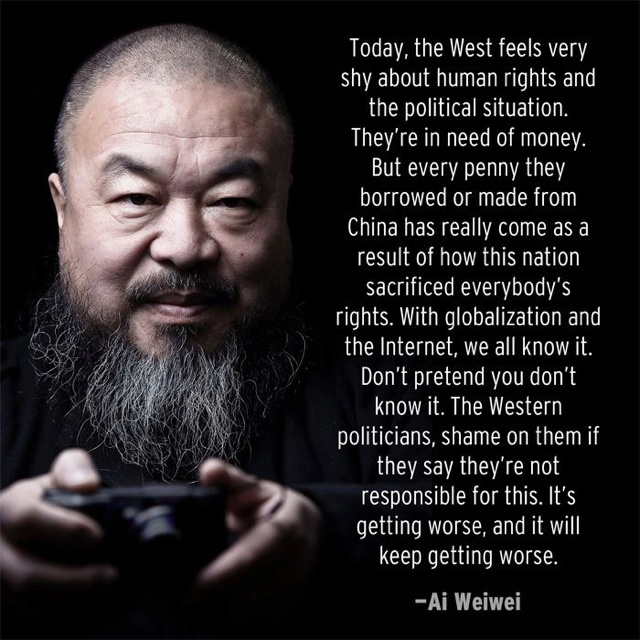 Ai Weiwei on widespread human rights violations in China.