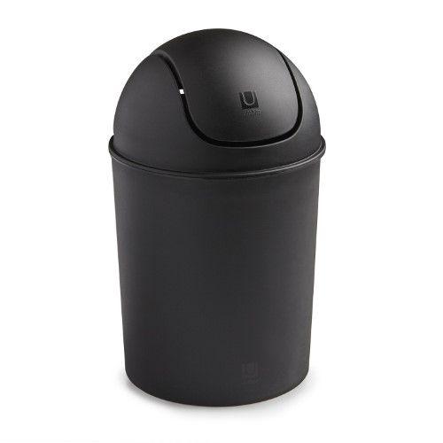 Umbra Mini Matte Trash Can, Black
