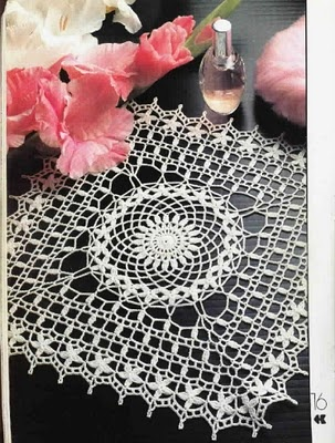 Blogger Innovart en Crochet: I love this doily.  It has a lot of possiblities such as a shawl or curtain.    Chart HERE:  http://4.bp.blogspot.com/_2UehAFwTK3I/TEDwwmk3CkI/AAAAAAAADO4/fUc8Eb8OUJ0/s400/7-1.jpg
