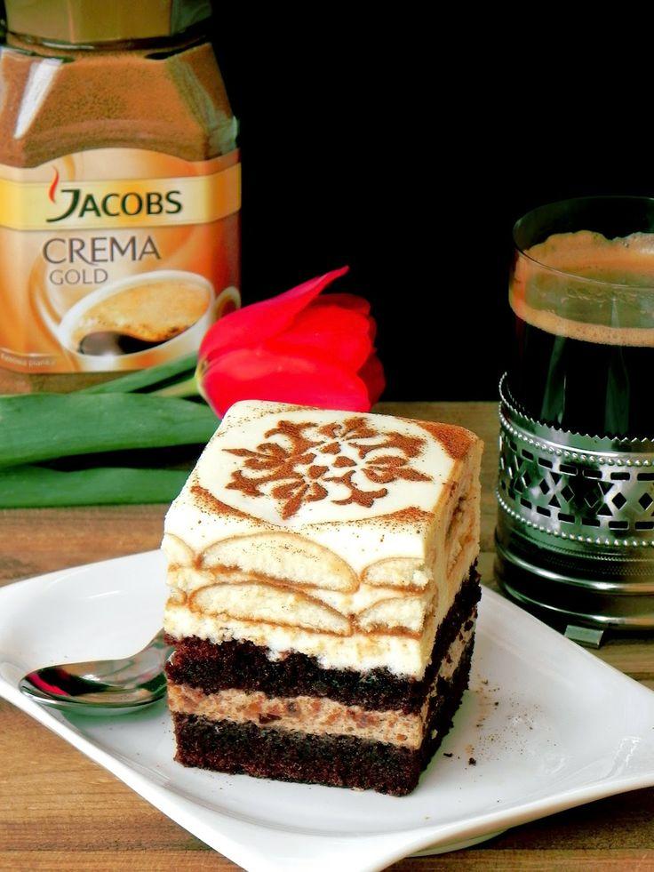 Fabryka Kulinarnych Inspiracji: Coffee Cake ciasto kawowe biszkopty