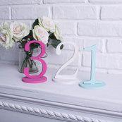 """Цифры на подставке (высота 18см,): продажа, цена в Днепре. объемные буквы и свадебные декорации от """"Интернет-магазин «KDekor»"""" - 196332717"""