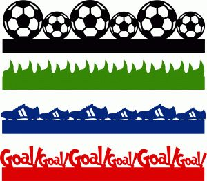 Silhouette Online Store - View Design #59840: soccer borders set