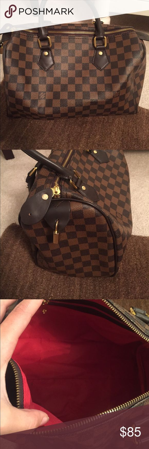 Speedy inspired Louis Vuitton high quality High quality inspired Louis Vuitton speedy bag, no scratches, worn 3 times. Comes with lock and key. Bags Satchels