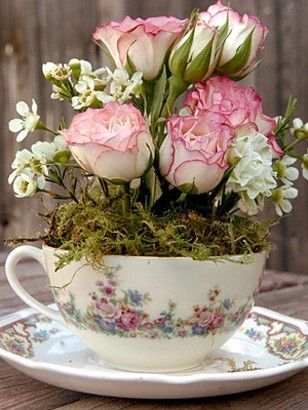 Tea cup Arrangement (Floral Arrangements by rhea)