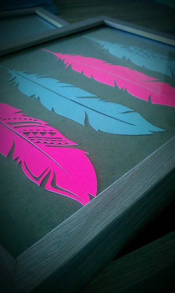New 2015 Wall art collection - Paper Cut Feathers.  Coming Soon