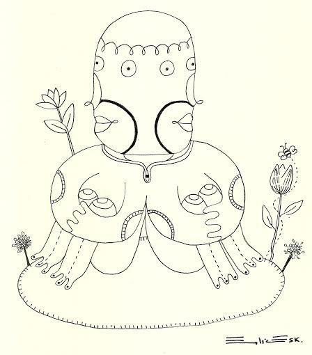 """""""Bonito, todo me parece bonito"""" Dibujo con rapidografo Autoria: Emilia Escalante Ariza"""