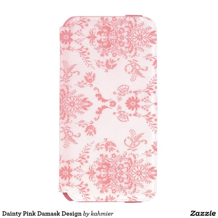 Dainty Pink Damask Design iPhone 6/6s Wallet Case