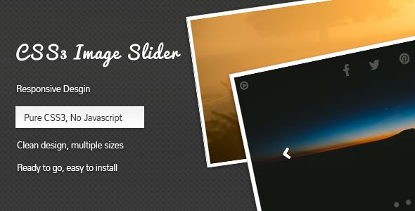 CSS3 Image Slider | Sliders, Pure products, Clean design