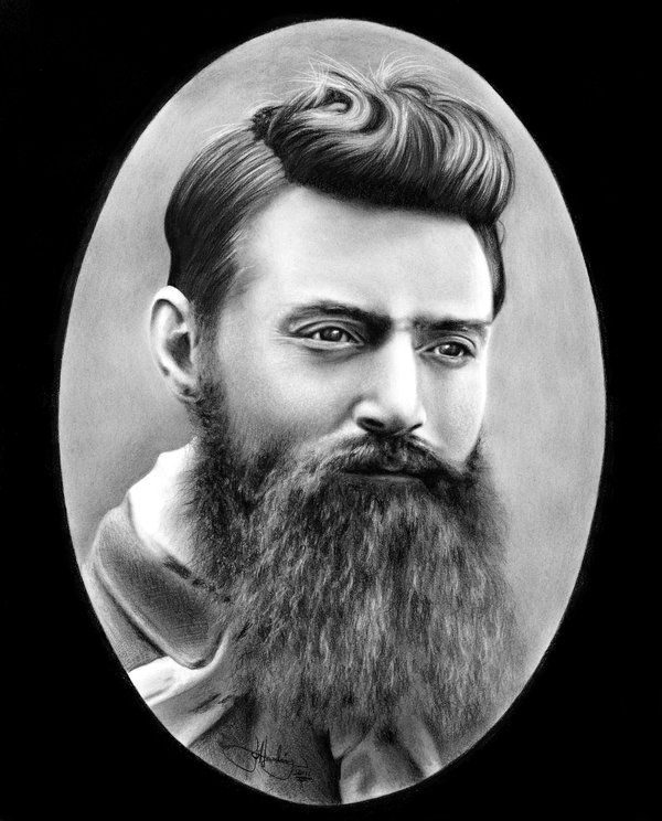 Ned Kelly Portrait drawing by WhizzieWhizzer on DeviantArt
