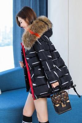 Winter Jacket Women Parka Plus Size 5 110 kg Down Cotton Coat Female Short Double Sided acket jaqueta feminina LX2390 black hua