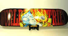 2005 Signed WORLD INDUSTRIES Skateboard Flameboy Vs. Wet Willy Thumb Wrestling