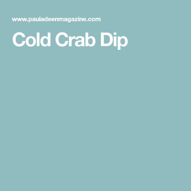 Cold Crab Dip
