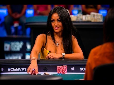 Hot Poker Babe Plays a Sexy Poker Hand