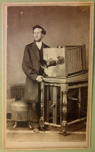Occupation. Photographer with studio camera, 1860s. Attica Indiana CDV   eBay