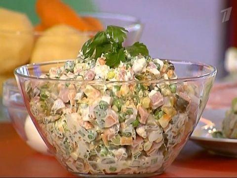 рецепт оливье из вареных овощей