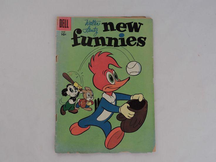 WALTER LANTZ NEW FUNNIES, DELL, VOLUME 1, # 232, JUNE 1956 WOODY WOODPECKER