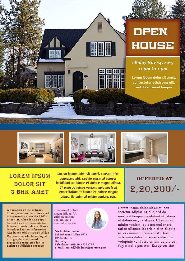 34 Best Open House Flyer Ideas Images On Pinterest Flyer