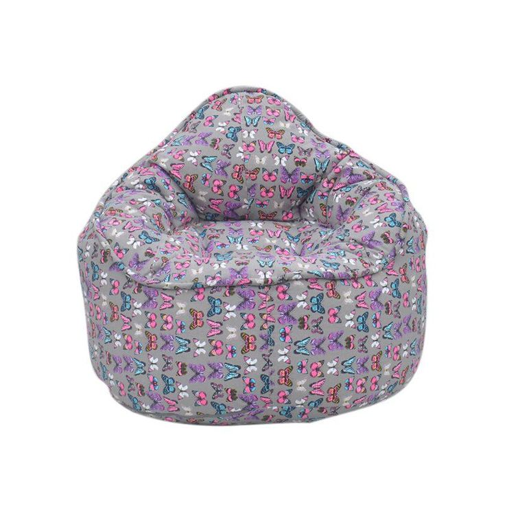 Modern Bean Bag The Pod Medium Bean Bag Chair Butterfly - MBB918RBF - BUTTERFLY