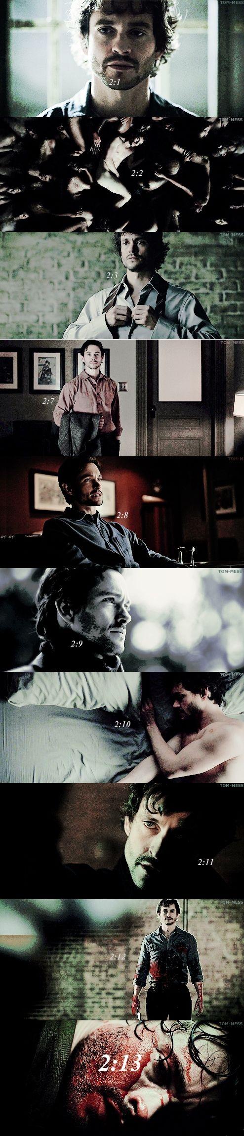 Will Graham in Hannibal Season 2 : Episode 1 to 13.
