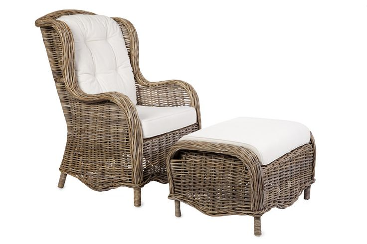 Kubu Greyrattan armchair with a cream coloured cushion. Purchase…