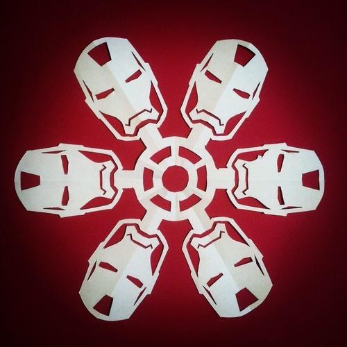 Iron Man paper snowflake - Tumblr